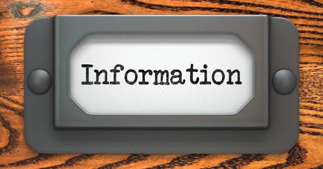 Information Concept on Label Holder.