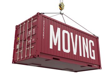 Moving - Red Hanging Cargo Container.