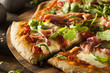 Leinwanddruck Bild - Prosciutto and Arugula Pizza