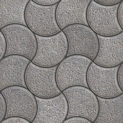 Gray Paving Stone in Wavy Form.