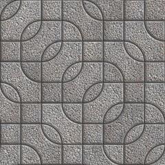 Grey Figured Granulated Pavement Slabs.