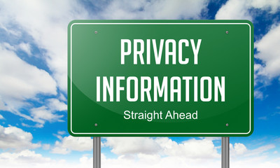 Privacy Information on Highway Signpost.
