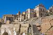 Leinwanddruck Bild - Panoramic view of Craco. Basilicata. Italy.