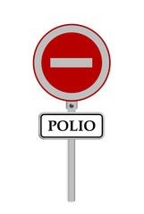 stop Polio sign - isolated