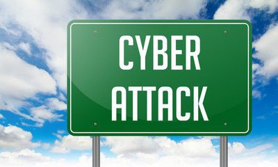Cyber Attack on Highway Signpost.