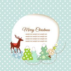 Cute Christmas greeting card