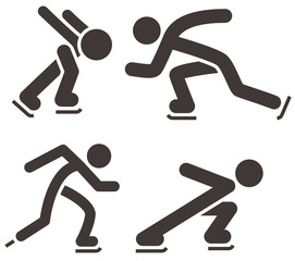 Skate icons set