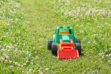 Toy green tractor