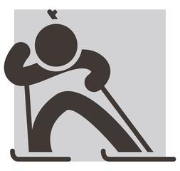 Winter sport icon - Biathlon