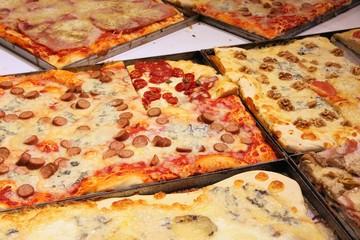 Italian pizza in restaurant