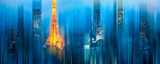 Tokyo vertikal abstrakt