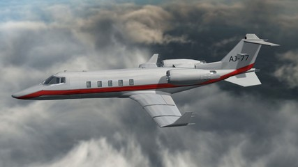 private corporate jet - luxury corporate airplane - in fly