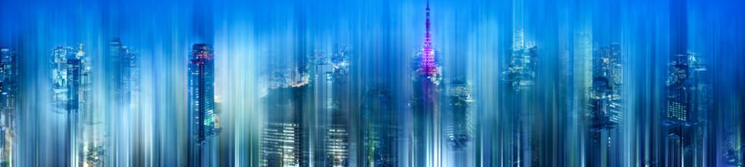 Tokio bei Nacht abstrakt
