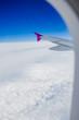 Looking through plane window