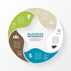 Vector circle infographic, diagram, presentation