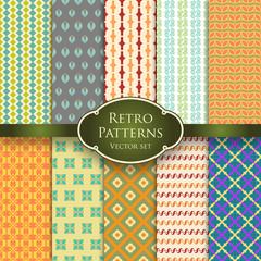 Vector set of retro patterns