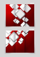 Tri-fold brochure template design