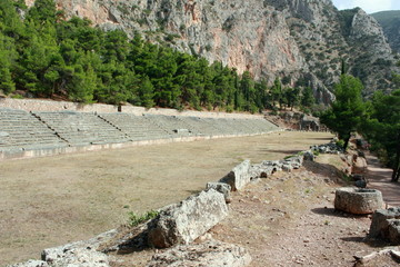 Stadium and Track at Ancient Delphi