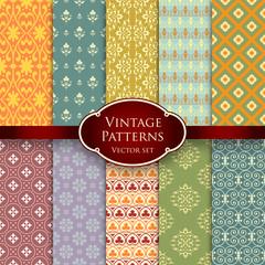 Vector set of vintage patterns