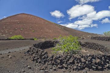 Volcano and lava desert, Lanzarote, Canary islands,
