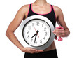 canvas print picture - sports coach holding a clock