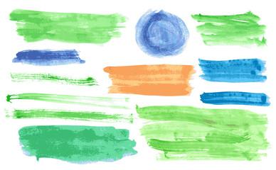 Watercolor banners vector set