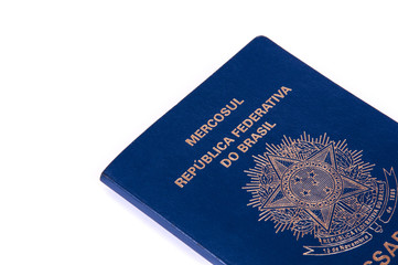 Brazilian Passport on white background