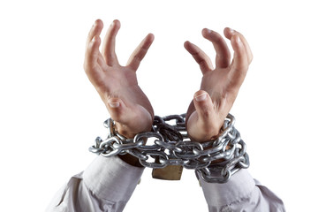 Tense hands chained