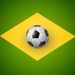 Soccer ball of Brazil 2014