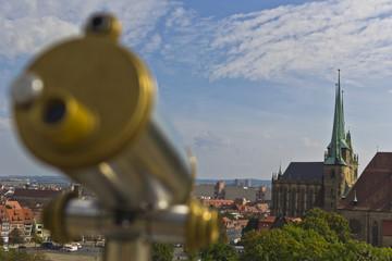 Blick zum Erfurter Domberg
