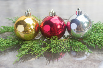 Christmas ornaments closeup