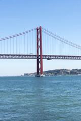 Bridge on Tagus river, Lisbon, Portugal