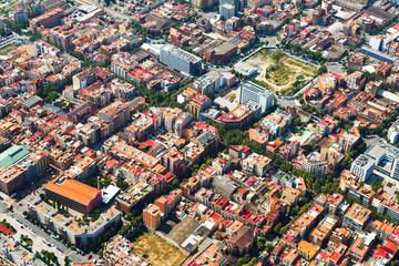 Aerial view of   Barcelona cityscape. Catalonia