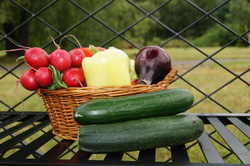 Vegetables in the basket - healthy food