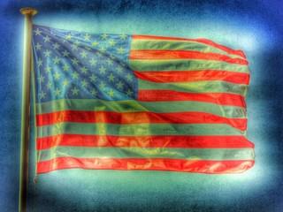 US Fahne / Flagge - Retrostyle...