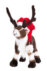 Rentier Rudolph isoliert auf Weiß