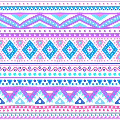 Tribal ethnic seamless stripe pattern. Vector illustration