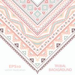 Tribal ethnic corner pattern. Vector illustration for your cute
