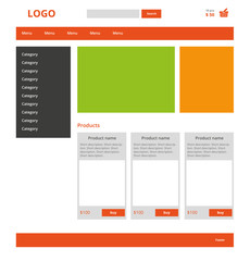 Modern graphic web template of Internet business. Clear webdesig