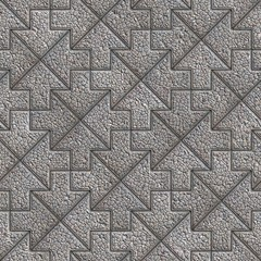 Gray Granular Mosaic Paving Slabs.