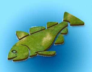 3d map isometric fish simple