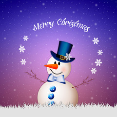 Snowman wishes you Merry Christmas