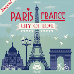 Vector images of Paris