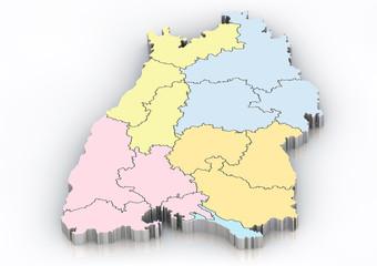 Bundesland: Baden Württemberg Regierungsgrenzen