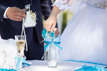 Sand ceremony on wedding