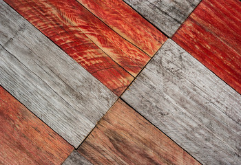 grungy gray and red wood planks abstract