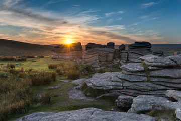 Combestone Tor on Dartmoor