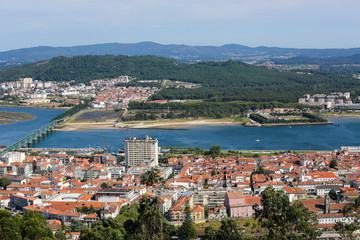 Aerial view on Viana do Castelo, Portugal
