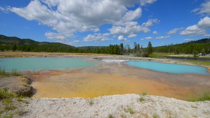 Black Opal Pool in Biscuit Basin, Yellowstone National Park