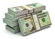 Stacks of 20 dollars banknotes